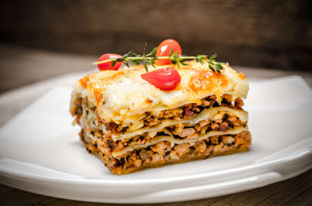 lasagna: Lasa�a Foto de archivo