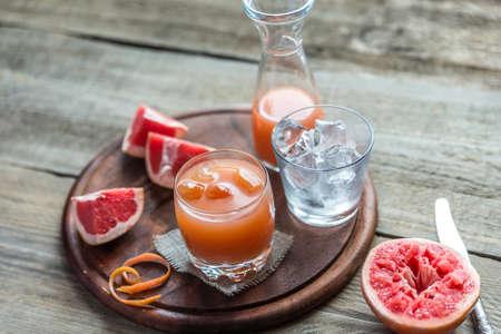 verre de jus d orange: jus de pamplemousse