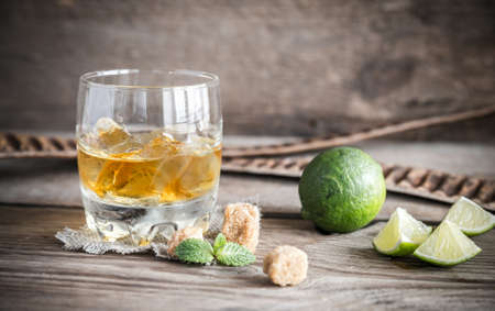 Rum with limes photo
