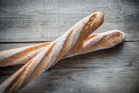 fresh bakery: baguettes Stock Photo