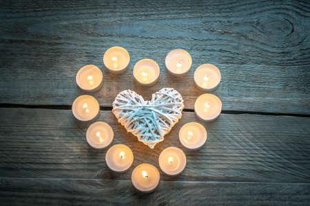 candlelit: candlelight heart