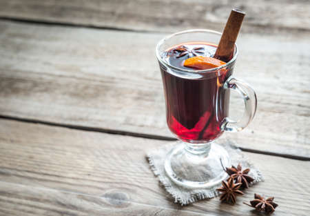 warm drink: mulled wine