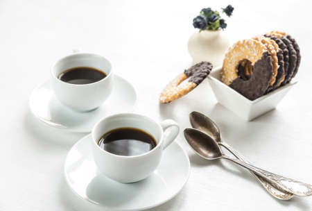 Cookies with coffee photo