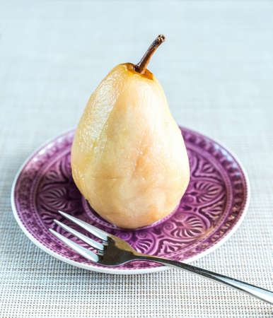poached: poached pear