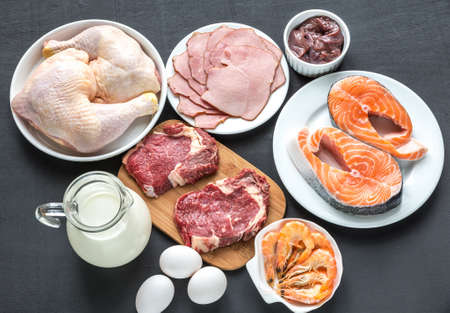 offal: ingredients for protein diet Stock Photo