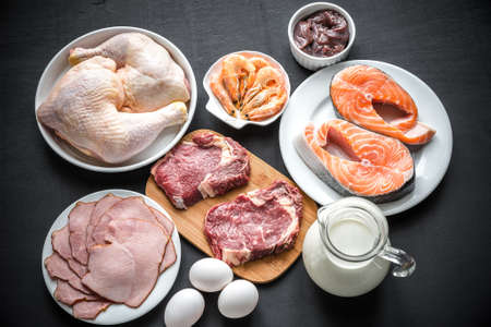 プロテイン ダイエットのための原料 写真素材 - 36062915