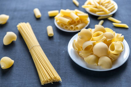 durum: various types of pasta