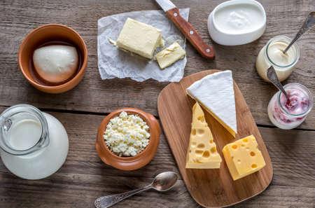Mleczko: produkty mleczne Zdjęcie Seryjne