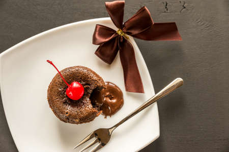 flourless chocolate cake: Lava cake