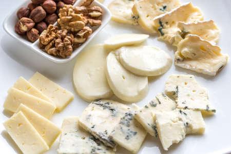 mozzarella cheese: Cheese assortment