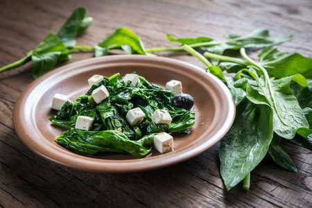 spinach: Espinacas Foto de archivo