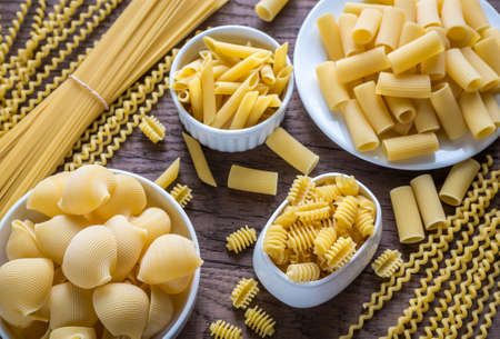 Types Pasta Stockfoto