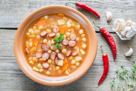frankfurter: Spicy soup