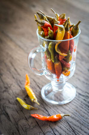 pickled: Pickled peppers Stock Photo