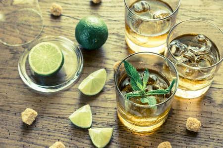 cane sugar: Rum Stock Photo