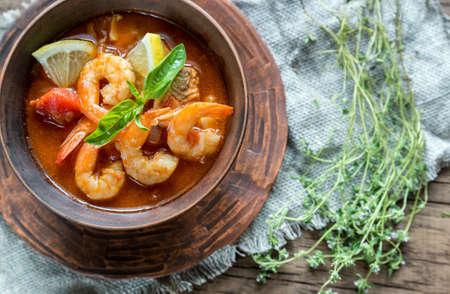 Bouillabaisse seafood soup