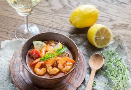 seafood soup: Bouillabaisse seafood soup