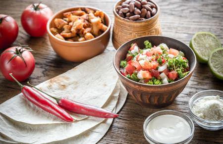 burrito: Burrito ingredients