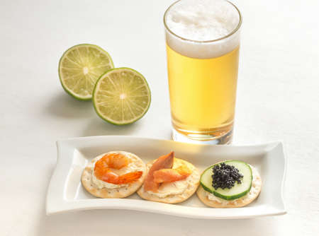 canapes: Seafood canapes