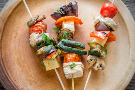 grilled vegetables: Grilled vegetables skewers