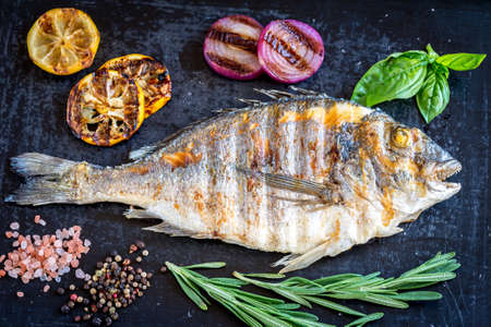 black fish: Grilled dorada