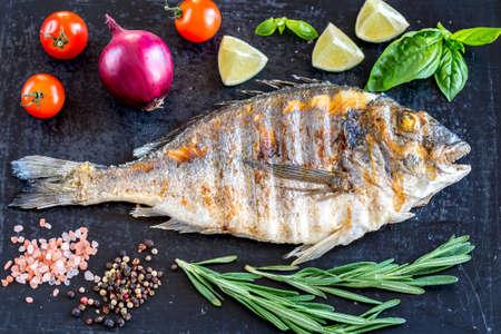 dorada: Grilled dorada fish