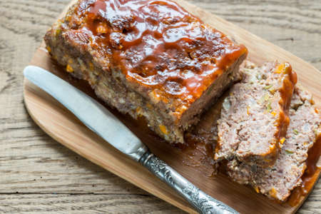 breadcrumbs: Meat loaf Stock Photo
