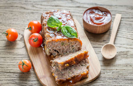 Meat loaf Stock Photo