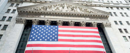new york stock exchange: NEW YORK CITY - JULY 10: Facade of New York Stock Exchange on July 10, 2015 in NYC. New York Stock Exchange is the largest stock exchange in the world