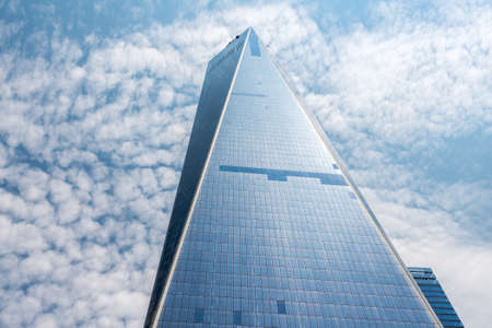 wtc: NEW YORK - JULY 13: Freedom Tower (1 WTC) in Manhattan on July 13, 2015. One World Trade Center is the tallest building in the Western Hemisphere and the third-tallest building in the world.