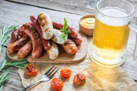 Grilled sausages Banque d'images