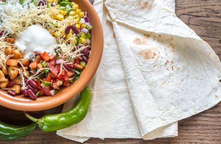 burrito: Burrito bowl Stock Photo