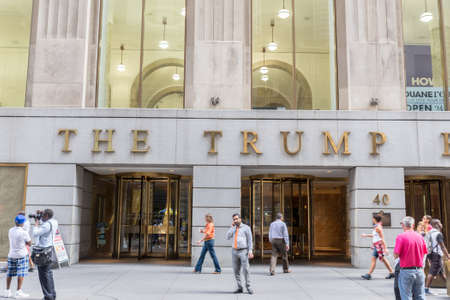 nyse: NEW YORK CITY - JULY 10: Facade 40 Wall Street The Trump Building on July 10, 2015 in NYC. Most headquarters of many  American exchanges NYSE, NASDAQ, AMEX, NYMEX, NYBOT are  run from Wall Street.