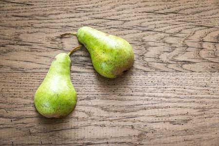 yellow  green: Pears Stock Photo