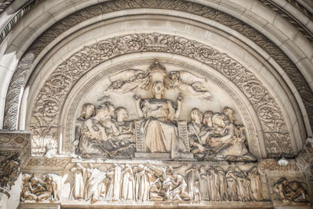 episcopal: St Bartholomews Episcopal church relief, New York