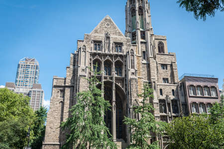 congregation: NEW YORK CITY - JULY 10: Central Presbyterian Church  on July 10, 2015 in New York, USA. It is a historic congregation on the Upper East Side and it is a member of the Evangelical Presbyterian Church.