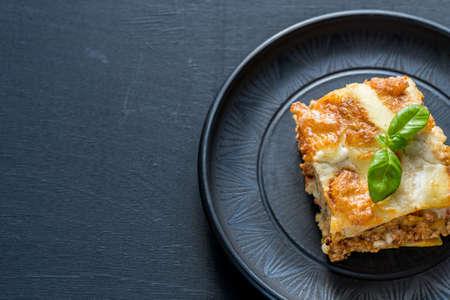 dinner plate: Lasagna Stock Photo