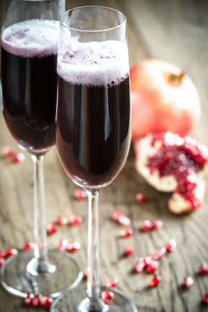 cocktails: Red champagne