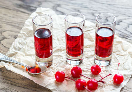 brandy: Cherry brandy Stock Photo