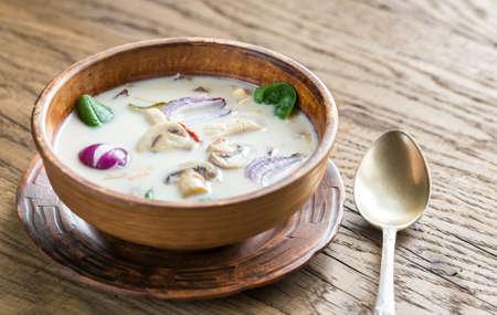 Tom Kha Gai Chicken Coconut Soup Stok Fotoğraf