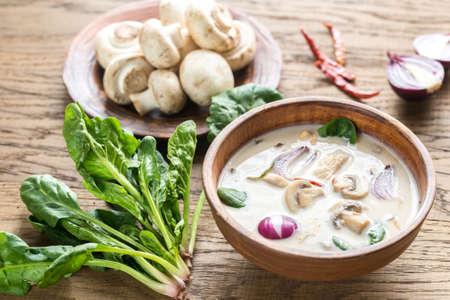 tom: Tom Kha Gai Chicken Coconut Soup Stock Photo