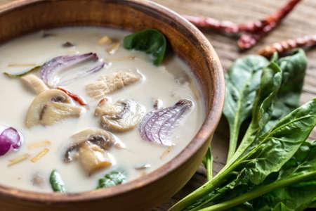 tom': Tom Kha Gai Chicken Coconut Soup Stock Photo
