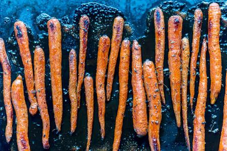 carrot: Zanahorias glaseadas Foto de archivo