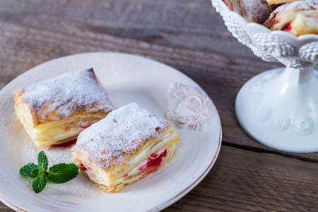 Mille feuille cake Stock Photo