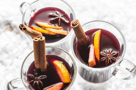 vin chaud: Mulled wine Banque d'images