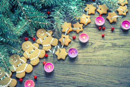 galletas de jengibre: galletas de jengibre de Navidad