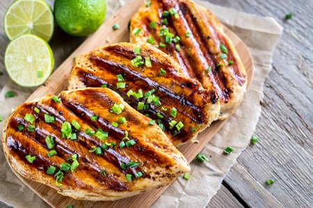 chicken breast: Grilled chicken breasts