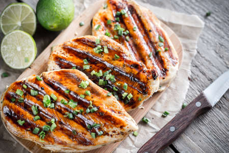 hot breast: Grilled chicken breasts