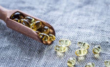 omega3: Omega-3 pills Stock Photo