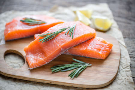 unsaturated fat: Salmon Stock Photo
